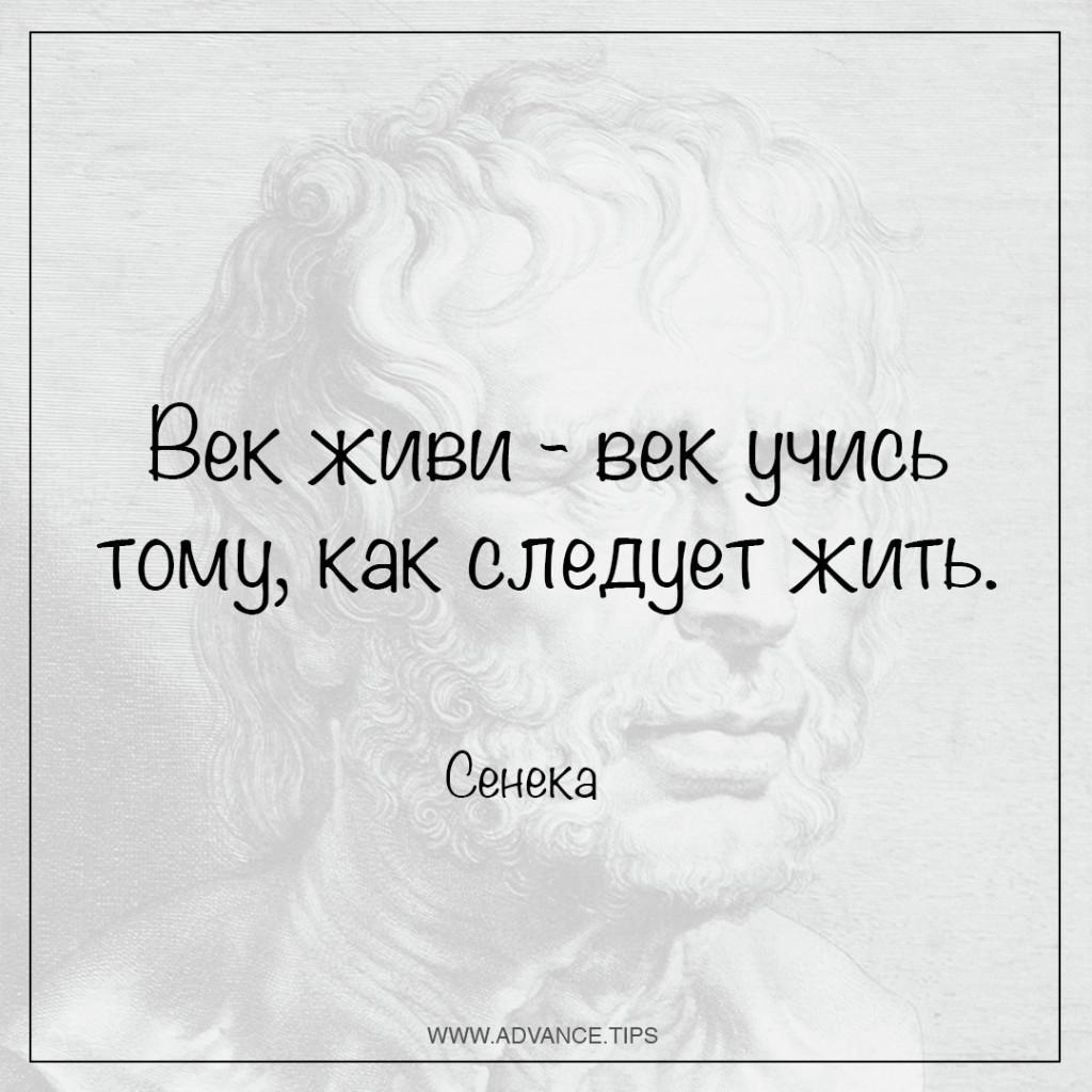 Век живи - век учись тому, как следует жить.