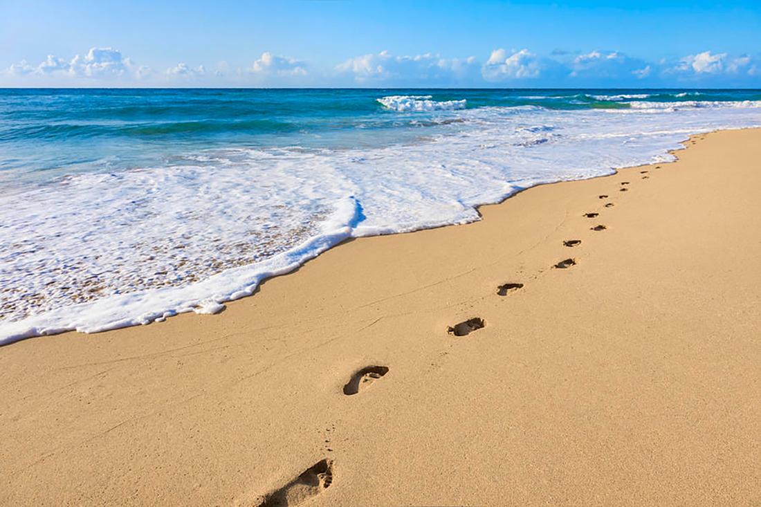 """Притча о Вере и Боге """"Следы на Песке"""""""