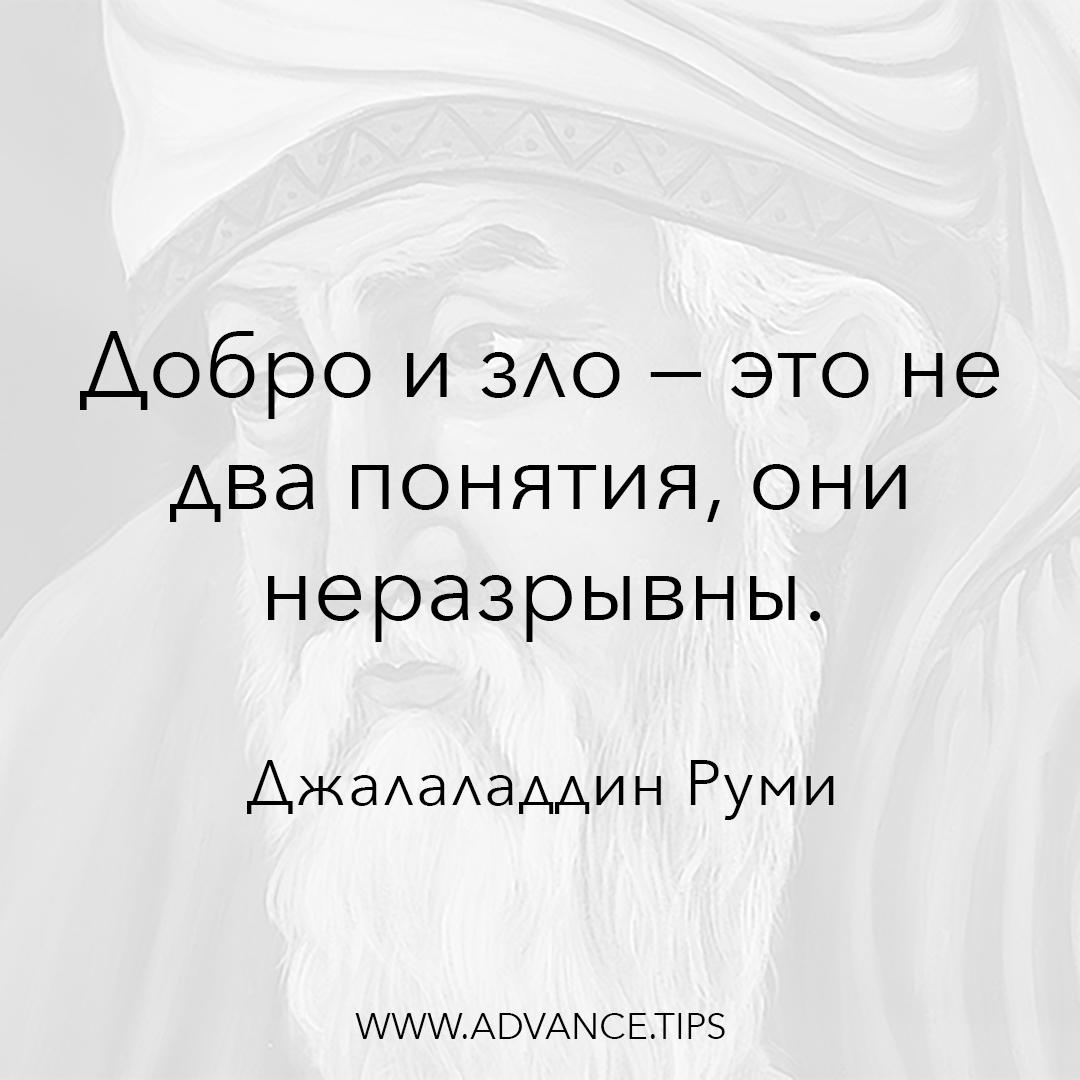 Добро и зло - это не два понятия, они неразрывны. - Джалаладдин Руми - 10 Мудрых Мыслей.