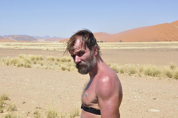 Вим Хоф - марафон в пустыне Намиб - без капли воды