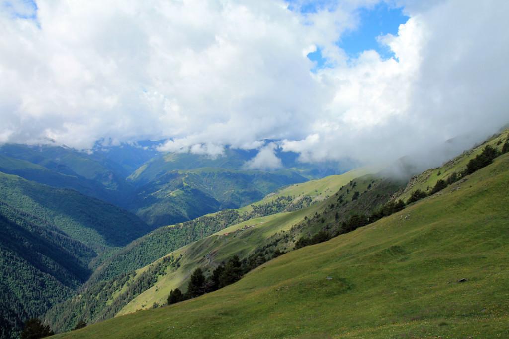 Прогулка под облаками в Тушетии