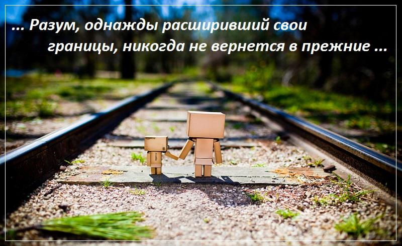 Разум, однажды расширивший свои границы, никогда не вернется в прежние