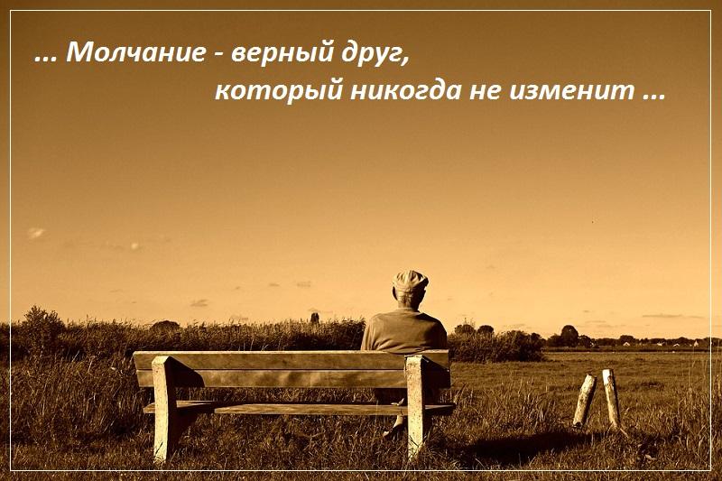 Молчание — верный друг, который никогда не изменит